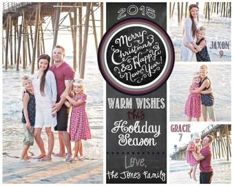 Customized 6x7.5 Beach Christmas Card