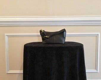 Vintage Coach, Black Leather, Small Hobo Handbag