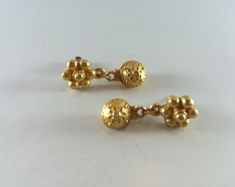 Golden dangle earrings