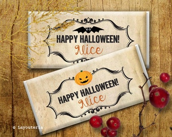 Halloween Candy Bar Wrappers | Halloween Party | Halloween | Halloween Birthday Party | Halloween Decoration