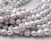 Purple Pearls, Light Purple Pearls, Pale Purple Pearls, Violet Pearls, Freshwater Pearl, Nugget Pearl, Baroque Pearl 7.5mm-8.5mm Full Strand