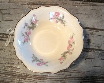 Four Homer Laughlin Virginia Rose Heather Rose or Wayside Dessert Bowls