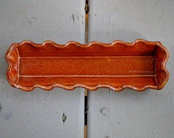 Ceramic Olive Tray in Copper