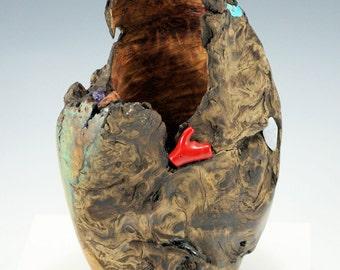 Wooden Center Piece, Art Piece of Fir, A2637