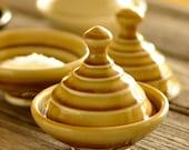 Custom Order for Denise - Salt Cellar and Butter Keeper, Light Amber