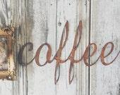 Cute { coffee } Rusty Metal Letters Sign Wedding Decor