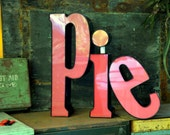 RESERVED Marquee Sign Letter Capital 'P': Large Pomegranate Pink Wall Hanging Initial -- Industrial Neon Channel Advertising, INTACT LEDs