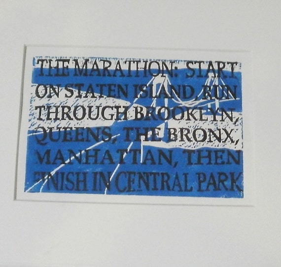 Print in Honor of the New York City Marathon