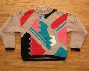 womens vintage pattern sweater