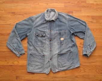 mens vintage Pay Day denim chore jacket