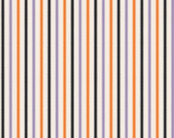 Halloween Fabric Riley Blake Happy Haunting Purple Stripe C4674 Designer Quilting Cotton By the Half Yard