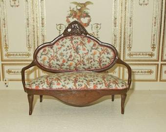 SALE ## SALE ## Dolls house miniature Chinoiserie Fabric Sofa