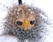 Plush owl miniature keychain tiny bird accessory cute kawaii small stuffed owlet mini travel toy woodland creature forest animal plushie