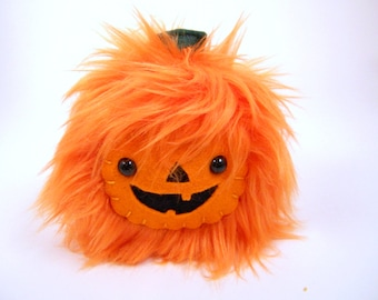 Plush pumpkin Hallowboo halloween toy monster cute creepy gothic spooky stuffed animal plushie softie kawaii geekery October jack o lantern