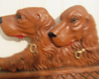 Vintage Tie Holder, Irish Setters, Jewelry, Scarf Display, Canine