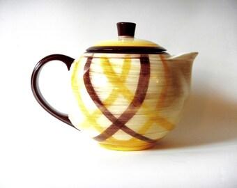 Vintage Mid Century Ceramic Vernonware Organdie Teapot California U.S.A.