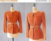 30%OFF Suede Jacket / Belted Jacqueline Jacket / 80s