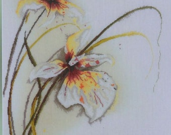 Orchid - Designed by Jan Kooistra for Janlynn Design - Cross Stitch Kit #1156-24  - 30 Count Screened Linen