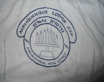 Vintage 1980s Albuquerque Lodge 336  New Mexico B'Nai B'Rith Ringer t-shirt 1982 Jewish Large