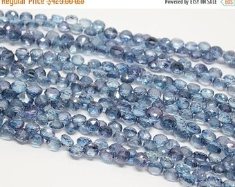 45% GOOD FRIDAY SALE 5 strands Blue Mystic Topaz Faceted Onion Drop Beads, 8 inches, 6-7mm, Sku/Bbl