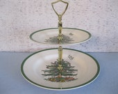Double Tier Christmas Tree Tray by Spode