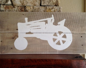 Tractor Silhouette, Reclaimed Wood Sign, Rustic, Farm, Ranch, Country, Decor, Wall Art, Hand-painted, Farmhouse, Chic, Shabby