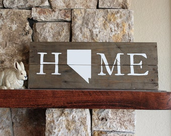 Nevada Home, Reclaimed Wood Sign, NV Sign, Nevada Artwork, Rustic Nevada Sign, Wooden Nevada, Wood Nevada Sign, Nevada Wall Art, Wood Nevada