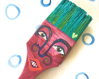 Paintbrush People Magnet Red