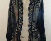 Black Lace Kimono Jacket
