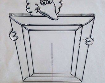 Tri Chem - Big Bird Photo Frame to Paint – Clear Plastic - No. 1700 - Vintage