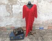 Vintage 80's Flapper Fringe Dress