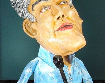 Folk Artist Gene Wolden Art Jay Leno Jay Talking Paper Mache Sculpture Folk Art Outsider Art