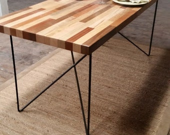 Reclaimed Wood Table Solid REDUCED PRICE Wood Table Dining Table Ready to Ship Metal Legs