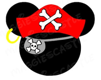VINYL Decal - DIY Iron On - Pirate Mickey