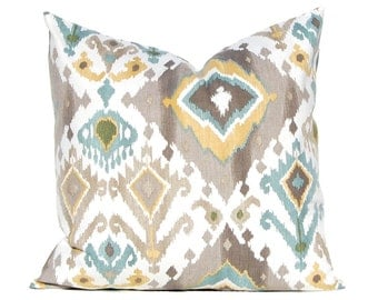 Ikat Pillow Cover - Decorative Pillow Covers -Taupe Pillow Covers - Throw Pillow Covers - Sofa Pillows- Tan Pillow Covers - Designer Pillows