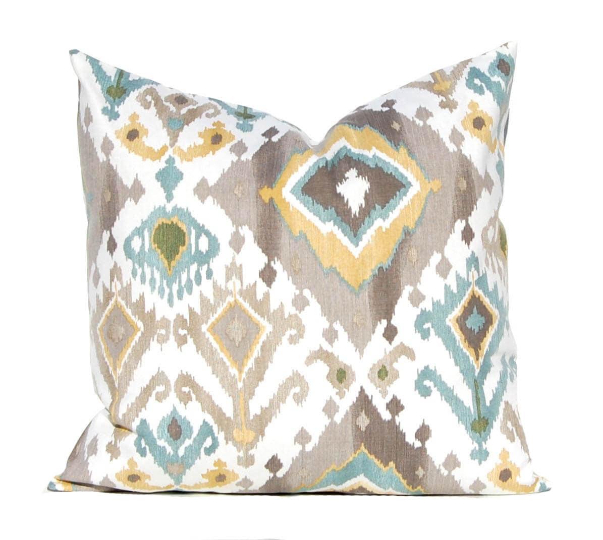 Throw Pillows Us : Ikat Pillow Cover Decorative Pillow Covers Taupe Pillow