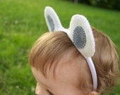 Wool Felt Polar Bear Ears Headband