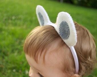 Wool Felt Polar Bear Ears Headband
