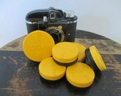 Vintage Kodak Camera Lens Cases - Six in Lot - Yellow, Black - Camera Accessory - Photo Prop