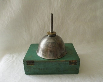 Vintage Metal Oil Can - Small Oil Can - Industrial Decor - Gem Oiler Pittsburgh PA -