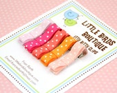 Baby Toddler, Hair Clip, Hair Bow Set of 15 - Rainbow Colors in Polka Dot