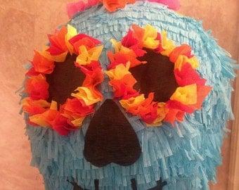 Day Of The Dead Pinata - Turquoise Skull Pinata - Skull Pinata