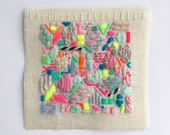 Mini Scatterings hand embroidered wall hanging