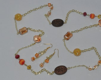 Fall Colors Long necklace set