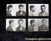 4 Cleveland Ohio Police Department Criminal MUG SHOTS 1940's 1950's Collection