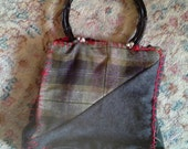 Quilty, Handsewn, Little Wooly Tote