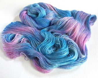 Evangeline Silk Bamboo Lace Yarn.  Forget Me Not