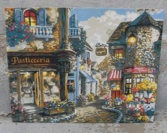 paint by number italian street scene bakery florist old world charm pbn