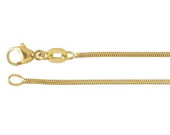 """14K Yellow Gold 1.2mm Unseamed Snake Chain, choose 16"""",18"""" or 20"""""""