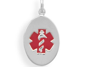 Oval Medical Alert Pendant